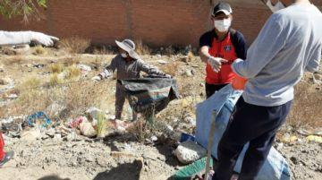 La Policía realizó operativo de limpieza en el acceso a Potosí