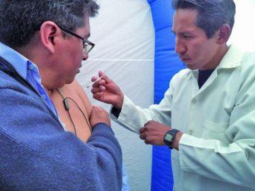 Vacunación antiinfluenza alcanzó al 75 % en Potosí
