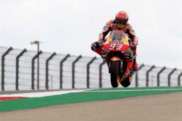 Márquez lidera con autoridad el Gran Premio de Aragón