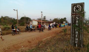 La marcha indígena en defensa de la Chiquitania llegó a San Rafael