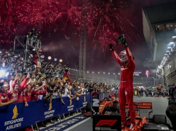 Vettel se alía con la estrategia para vencer en el GP de Singapur