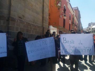 Magisterio urbano exige que el gobierno cancele horas de acúmulo