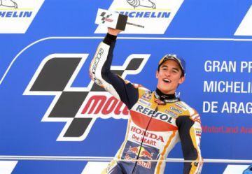 Márquez conquista el GP de Aragón