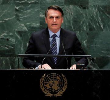 Bolsonaro se estrena en la ONU con defensa de Amazonia y ataque al socialismo