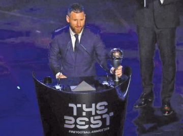 "Messi gana el ""The Best"" 2019"