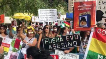 Frente a la ONU, bolivianos exigen declarar desastre