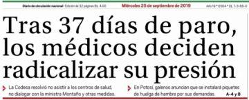 Revise la portada de El Potosí