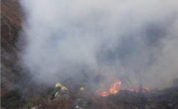 Tarija: La Alcaldía reporta que el incendio en Bella Vista fue controlado