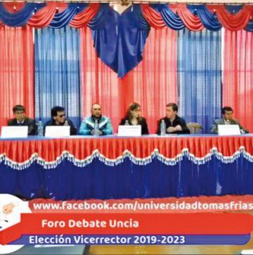 Inician los debates de la elección del vicerrector
