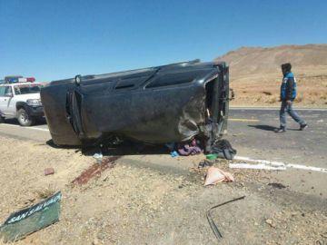 Reportan el vuelco de un vehículo con un fallecido