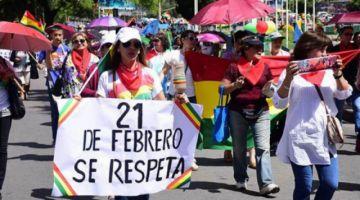 Colectivos llaman a cabildo y marcha en defensa del 21 F