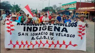 La marcha Indígena avanza a la ciudad cruceña con nuevas demandas