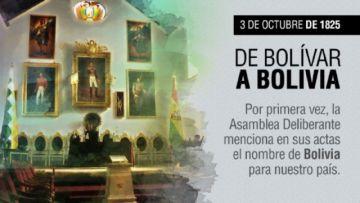 El nombre de Bolivia cumple 194 años
