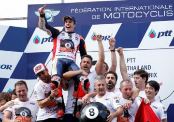 Márquez gana el Gran Premio de Tailandia de MotoGP