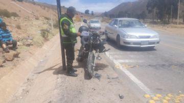 Registran colisión en la ruta Potosí a Sucre, sin heridos