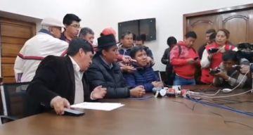 URGENTE: Gobierno ofrece diálogo directo entre Comcipo y Evo Morales