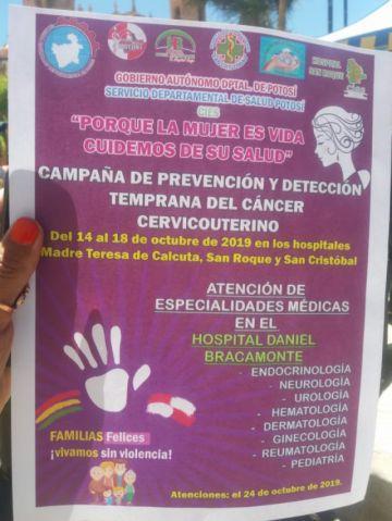 Inician campaña de detección de cáncer cérvicouterino
