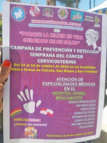 Lanzan campaña de salud en homenaje a la mujer