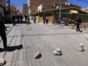 Potosí sigue bloqueada en fin de semana