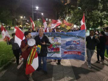 Residentes en Cochabamba marcharon en apoyo a huelga