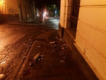 Granizo causa daños menores en inmuebles del centro de Potosí