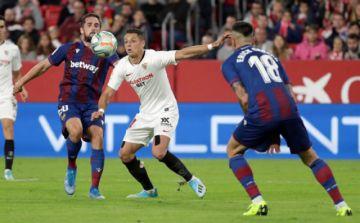 Sevilla vence por la mínima diferencia a Levante