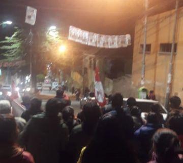 Marcha de Comcipo proclama que hubo fraude electoral
