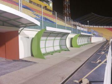 Alistan entrega provisional de las obras  de la recta general del estadio
