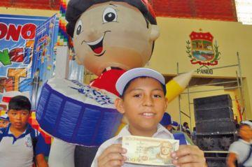 Pago del bono Juancito Pinto comienza mañana en el Departamento