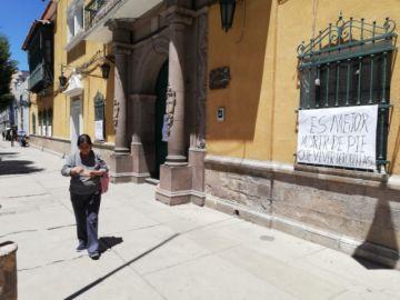 Instituciones públicas del centro citadino están a puerta cerrada