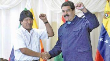 Nicolás Maduro da su apoyo a Evo Morales