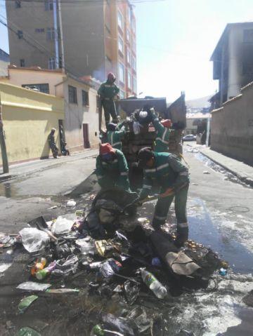 Emap aplica plan de contingencia para la limpieza de la ciudad
