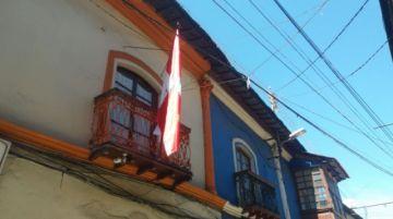 Banderas potosinas ondean en domicilios de la ciudad