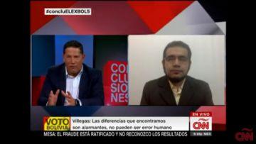 Edgar Villegas presenta su investigación del fraude en CNN