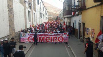 Marcha convocada por Comcipo recorre las calles