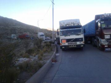 Tránsito informa que las cuatro salidas de Potosí están bloqueadas