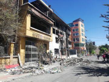 Continúa humeando la infraestructura del Tribunal Electoral Departamental