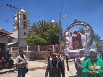 Chaquí vive la fiesta de la Virgen del Rosario