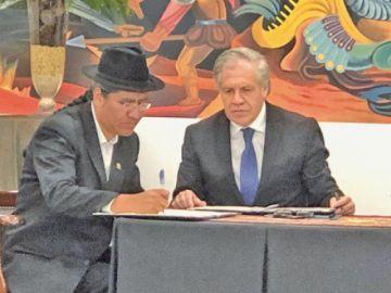 OEA iniciará auditoría electoral y envía 30 técnicos a Bolivia