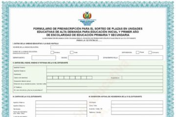 Hasta el 15 de noviembre reciben los formularios de preinscripción
