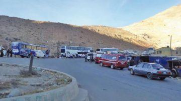 Policía reporta dos puntos de bloqueo en las carreteras del Departamento