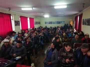 Los potosinos deciden ir a La Paz  sin desmovilizar en la ciudad