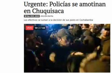 La Policía se amotina en Sucre