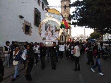 Los católicos de Potosí piden paz