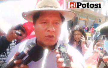 Alcalde de Potosí anuncia que se pone del lado del pueblo