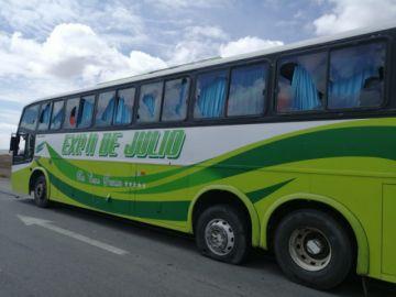 URGENTE: Caravana de potosinos fue frenada más allá de Caracollo