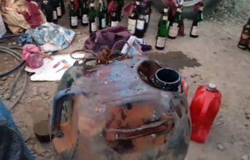 """Hallan """"arsenal"""" de bombas molotov en un presunto garaje del Estado"""