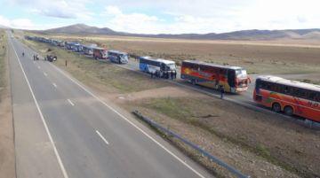 La caravana potosina ya pasó Puente Vilaque