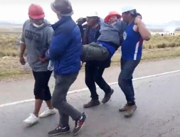 La caravana ya está en Panduro, hay dos heridos