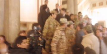 La presidenta Añez está en Palacio Quemado